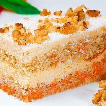 Protein Carrot Cake Slice