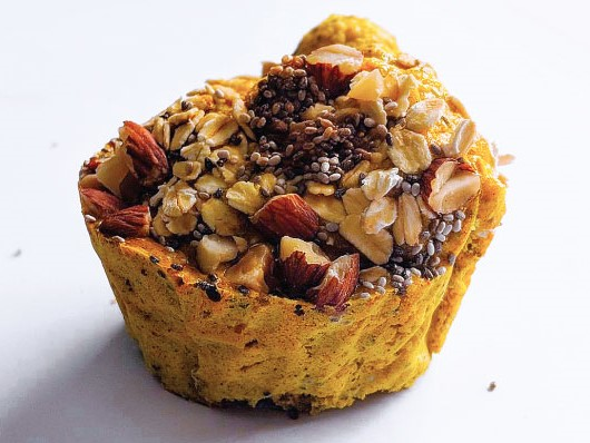 Protein Fig, Almond and Turmeric Muffin