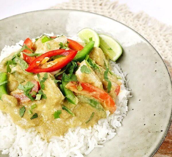 Chicken green curry