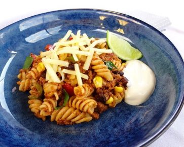 Mexican beef pasta