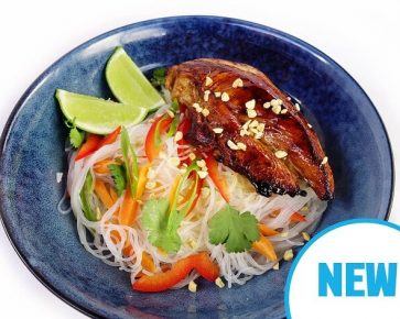 Barbecue chicken with vermicelli noodles